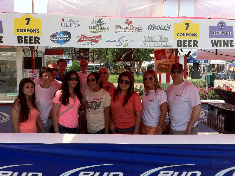 BOW Beer Booth Volunteers ~ GV Main, GV 121, Irving Blvd, GSB Mortgage & friends