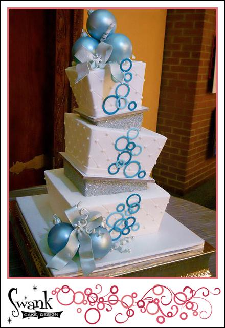 Swank cake design wedding