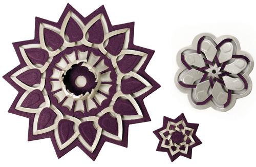 S5-113 Floral Burst CutFoldTuck