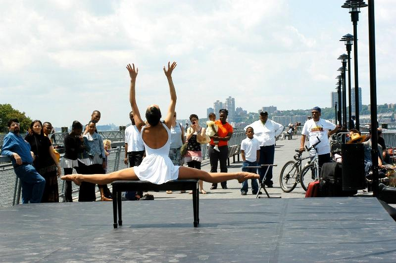 Ballerina at the West Harlem Piers Park Opening - 2009