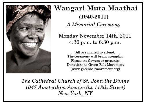 Wangari Maathai Memorial