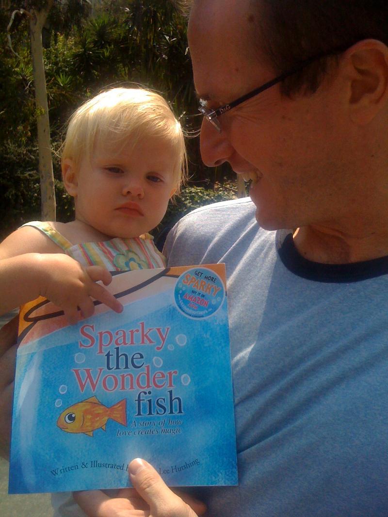 Russ, Daughter, Sparky Book