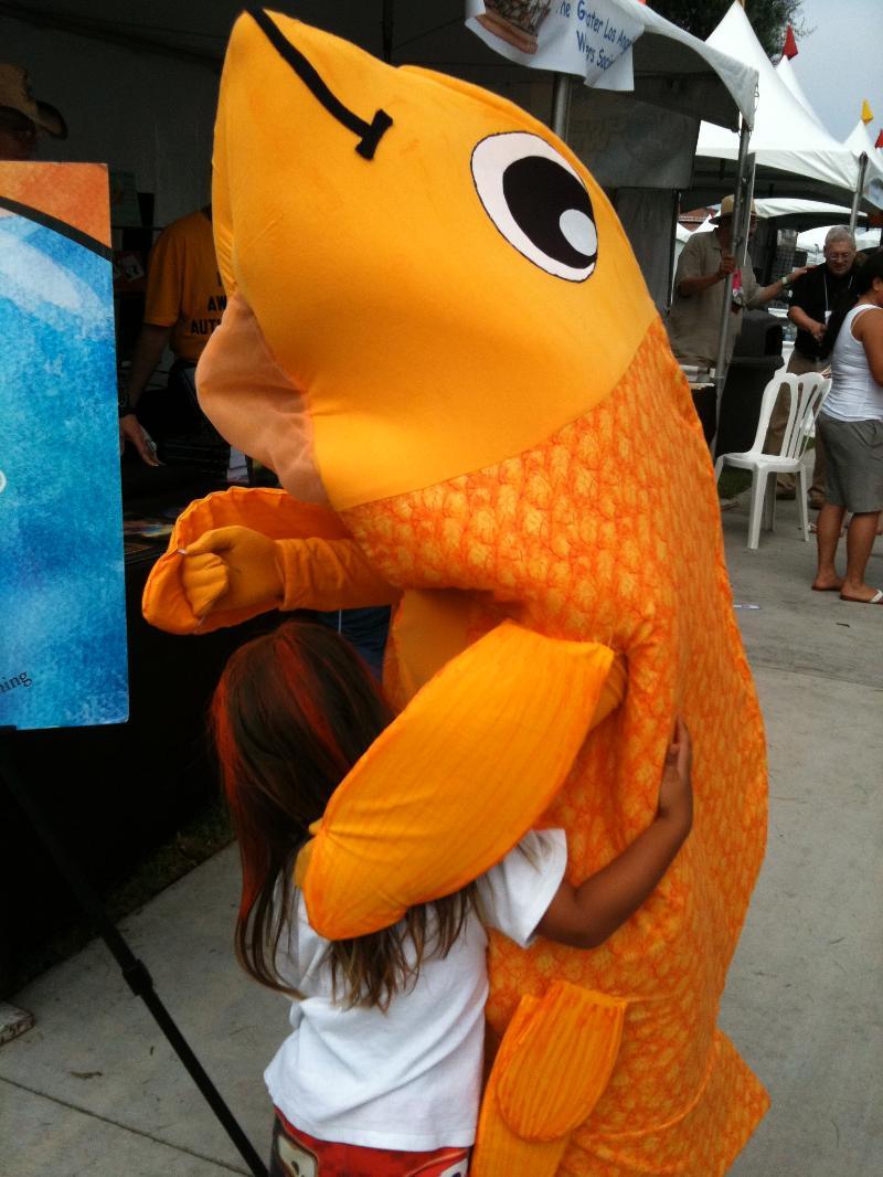 Kid Hugs Sparky