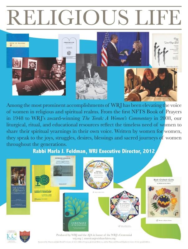 WRJ Centennial Poster Religious Life