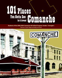 Scan of book cover, 101 Places You Gotta See In & Around Comanche