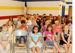 Children authors at book signing event