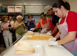 Photo of factory workers at Hillcrest Tortillas
