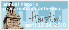 Logo for the 2010 Annual Historic Preservation Conference