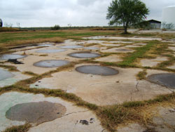 Photo of remains of the Crystal City swimming and irrigation pools