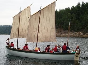 Sea Scouts on board longboat Bear