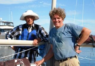 Chelcie & Kees Aboard Townsend Tern