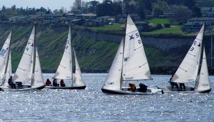 High School sailing team on PT Bay
