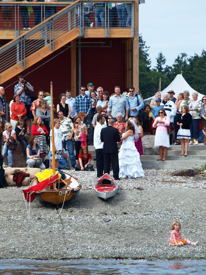 Wedding During Wooden Boat Festival
