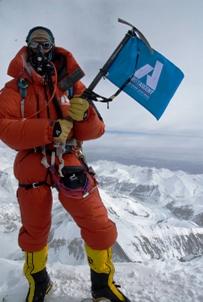 Leif Whittaker on Everest Summit