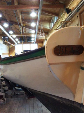 Longboat Bear in the NWMC boatshop
