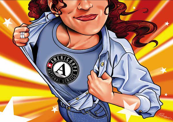 AmeriCorps Superhero
