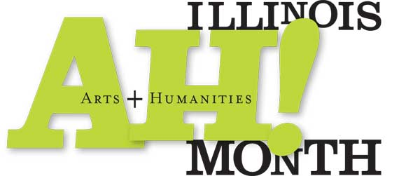 Illinois Arts & Humanities (AH!) Month Logo