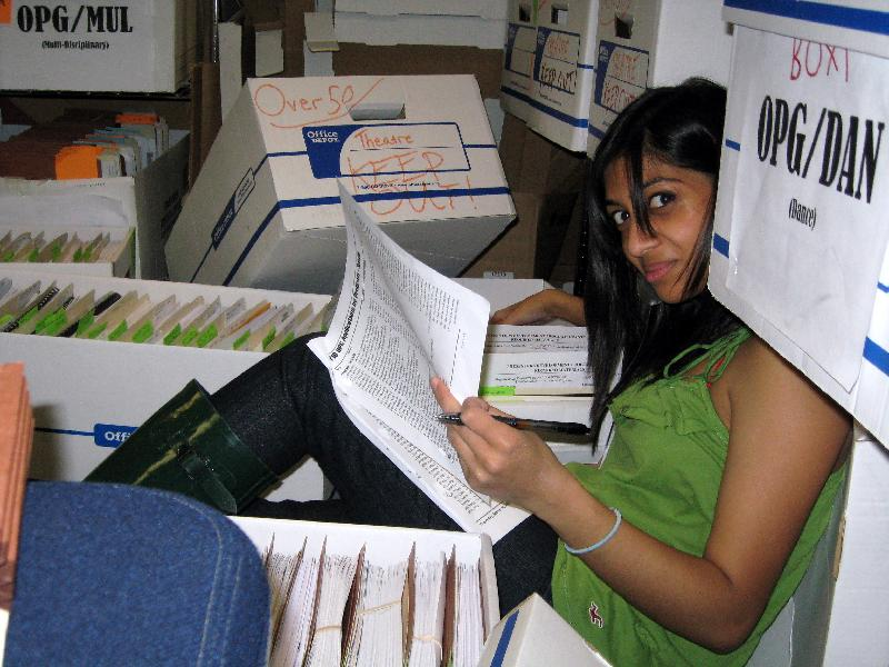 Photo of FY10 Grants Being Screened