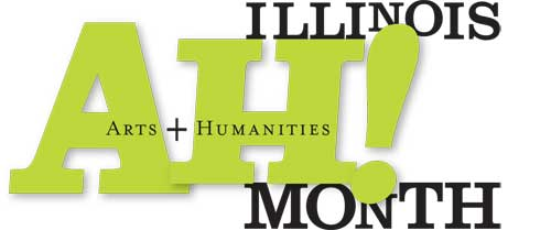 Illinois Arts & Humanities (AH!) Month Logo/ID