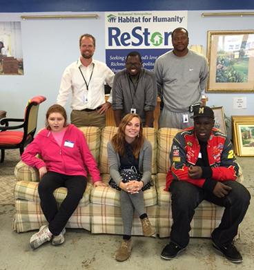Villa students at ReStore