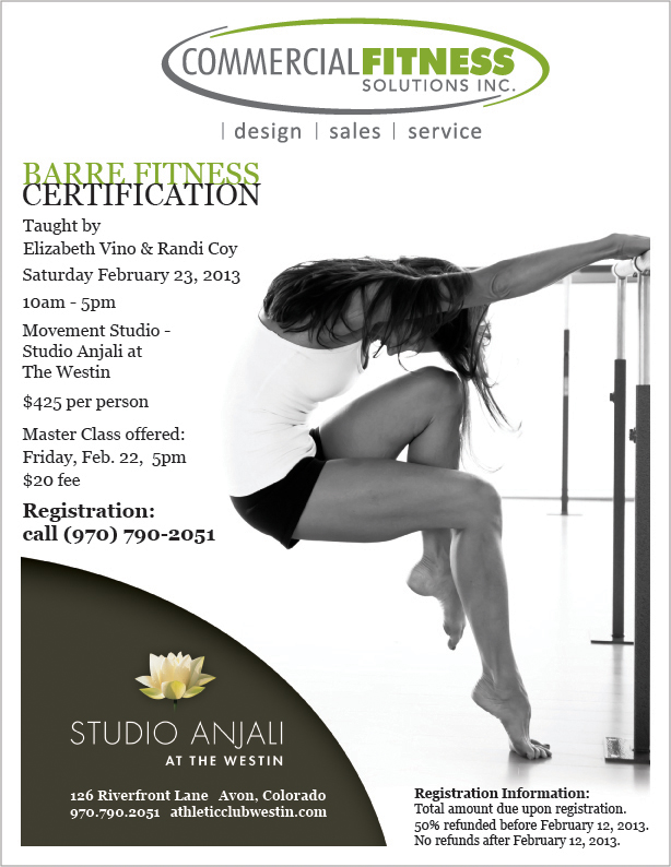Barre Fitness Certification At The Westin
