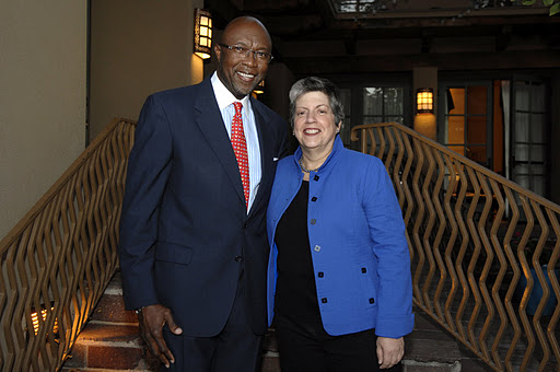 Rick Deane and Janet Napolitano