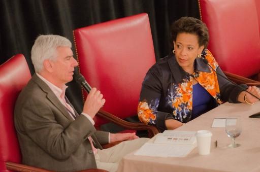 Don Stern and Loretta Lynch