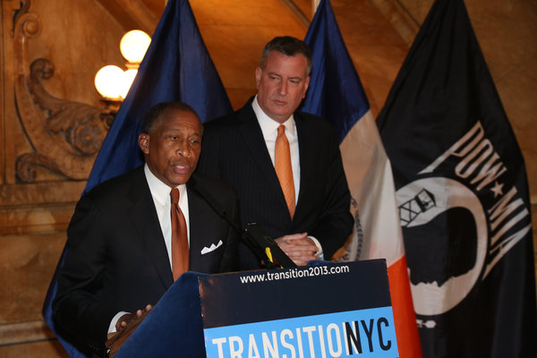 Zachary Carter with Mayor de Blasio