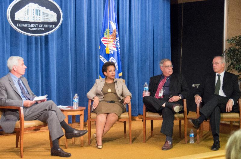 Don Stern with Loretta Lynch, David Margolis and Marshall Jarrett