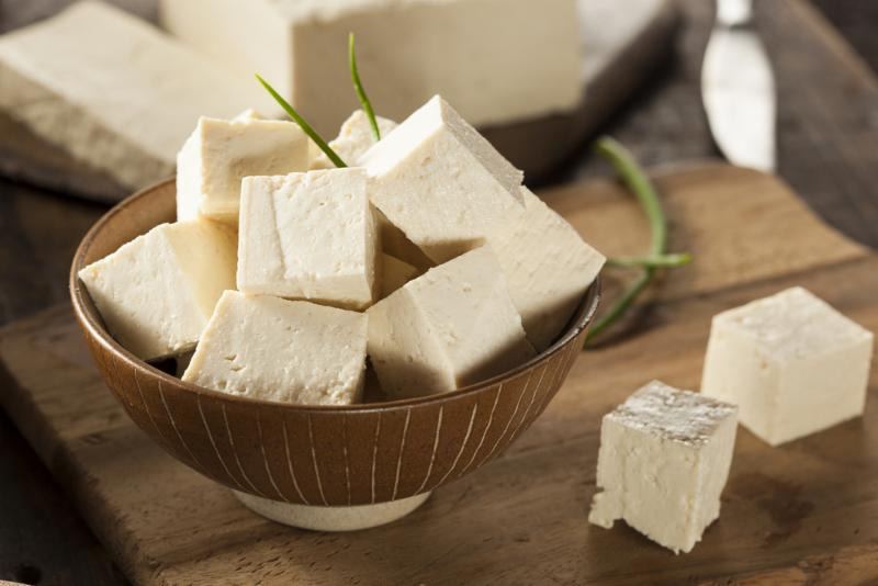Picture of tofu cubes in a bowl