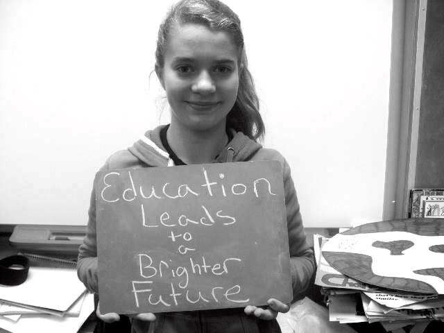 Education leads to brighter future