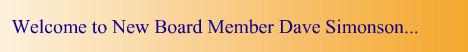 Gradient Welcome New Board Member..