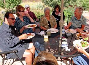 Garden party lunch