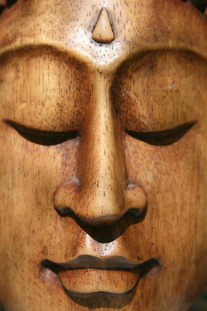 Buddha face narrow