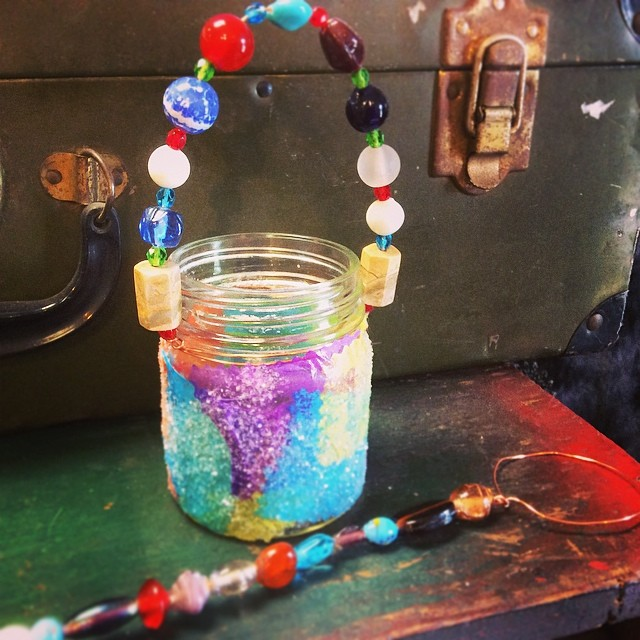 Kid class month at #beadbiz .  Bubbles and lights class for age 6 and up June 12th from 10-11 am call to sign up 205-621-2426
