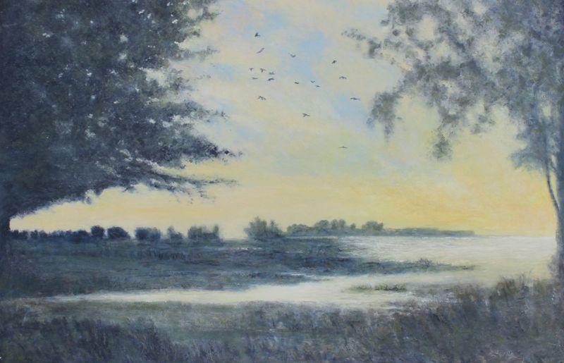"""Going South""  by Robert W. Pillsbury  at Studio 7 Fine Art Gallery"