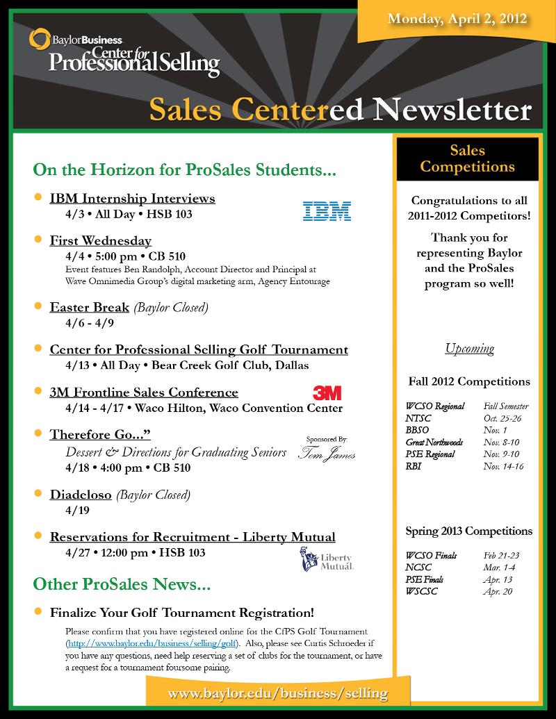 SalesCentered Newsletter (040212)