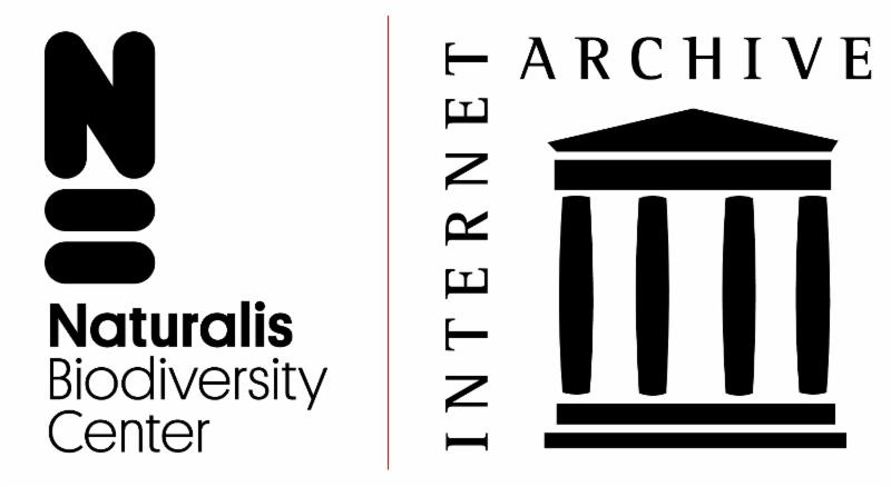 Naturalis Biodiversity Center and Internet Archive logos.