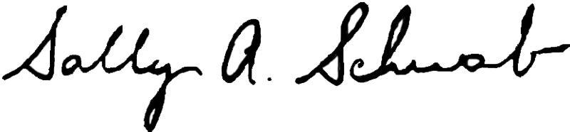 Sally Schwab signature