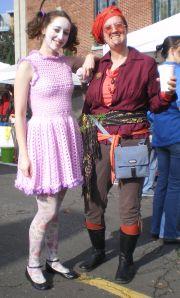 volunteers dressed up for hollyween