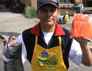 bobby holding chinook salmon
