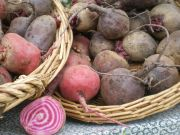 beets in baskets