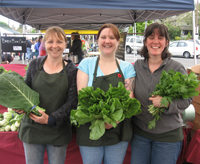 the ladies of deep roots with their greens