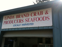 linda brand crab sign