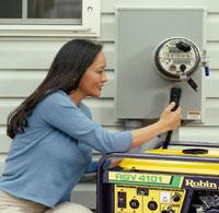 Woman plugging in GenerLink
