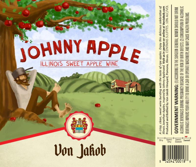 Johnny Apple Wine Label