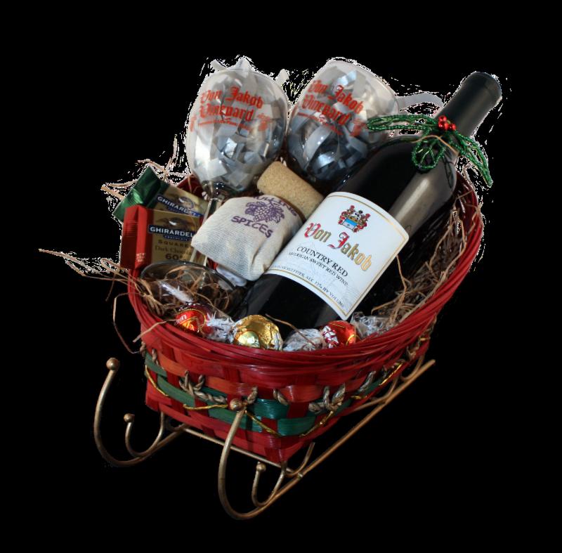 Von Jakob Holiday Wine Basket