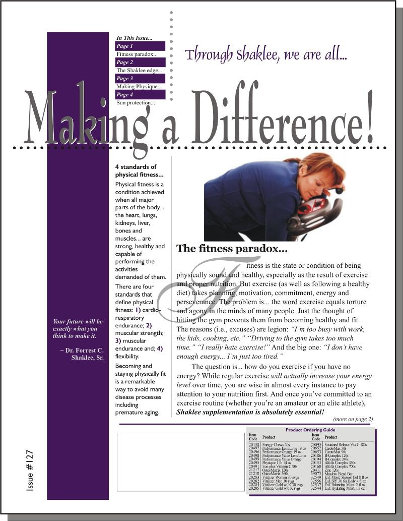 Making a Difference! Issue #127 - Page 1