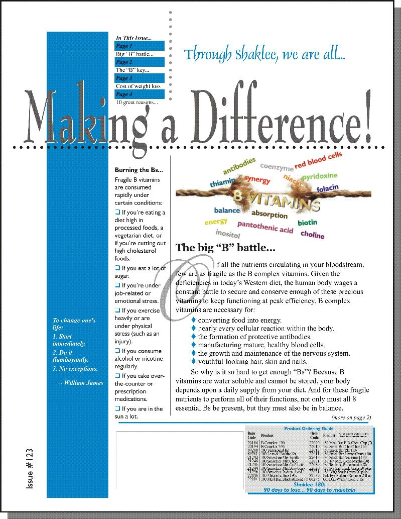 Making a Difference! Issue #123 - Page 1