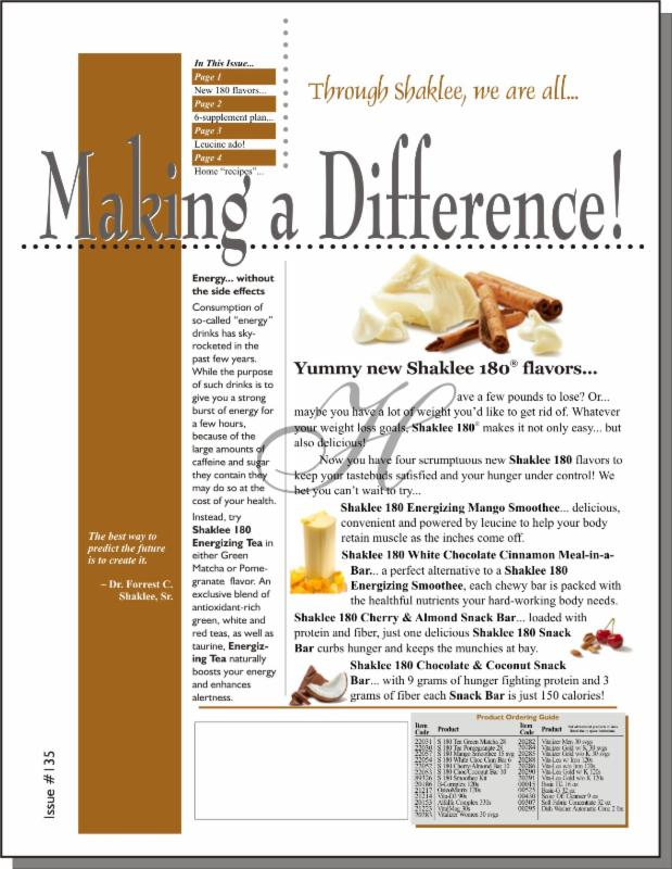 Making a Difference! Issue #135 - Page 1